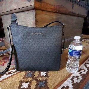 Michael Kors Large Messenger Crossbody Bag Black
